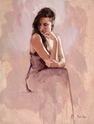 Seated Figure by Mark Spain -  sized 18x24 inches. Available from Whitewall Galleries